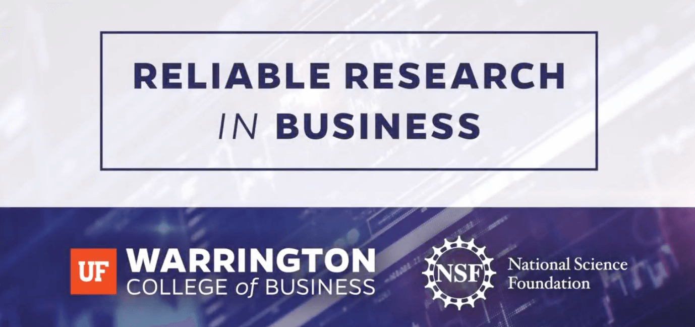 Talk on Reliable Research in Business Workshop